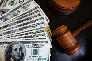 Gavel with Money